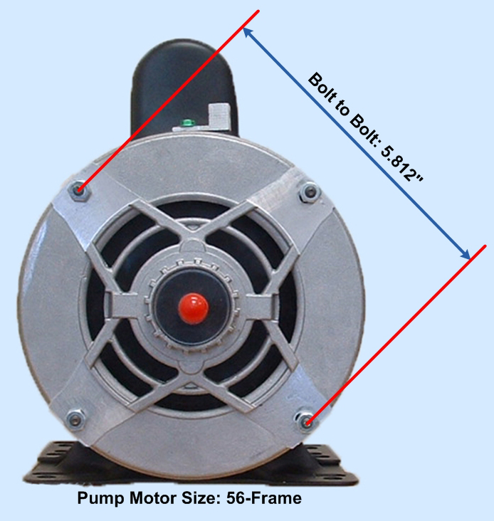56Frame_Dims $244 95 motor free freight fits all ultra jet pumps 56 frame thru  at reclaimingppi.co
