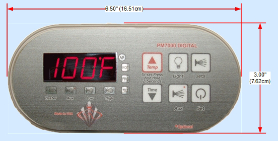 PM7000 Digital Spa Side Control