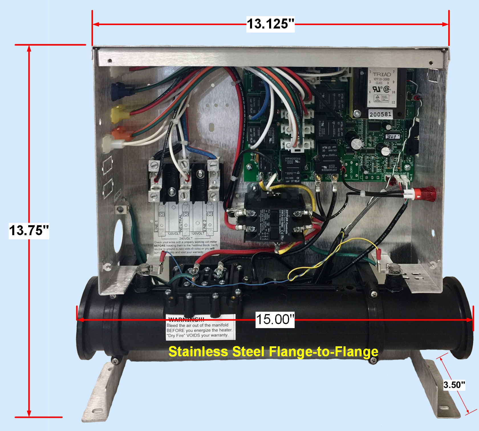 Powermaster_Dimensions replacement classact spas heater for $19 95 free freight mfg jacuzzi wiring diagram at edmiracle.co