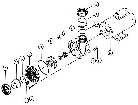 189 95 bn34 electric motor freight 189 95 replace waterway hot tub pump wetend exploded view
