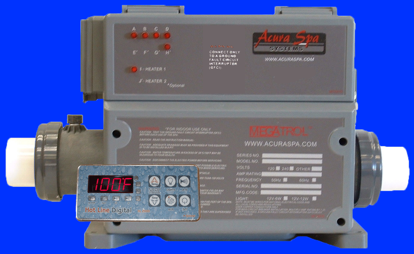 Hot Tub Control For 26995 Spa Pump 11495 Spaguts To 220v Wiring Diagrams Controls With 5 Year Titanium Heater Warranty