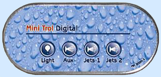 MN2000-X Auxiliary Digital Spa Side Control