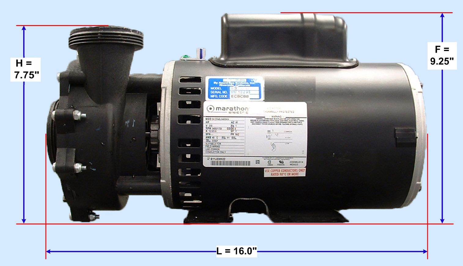 Wiring diagram for hayward super pump wiring diagram for for Pentair challenger pump motor