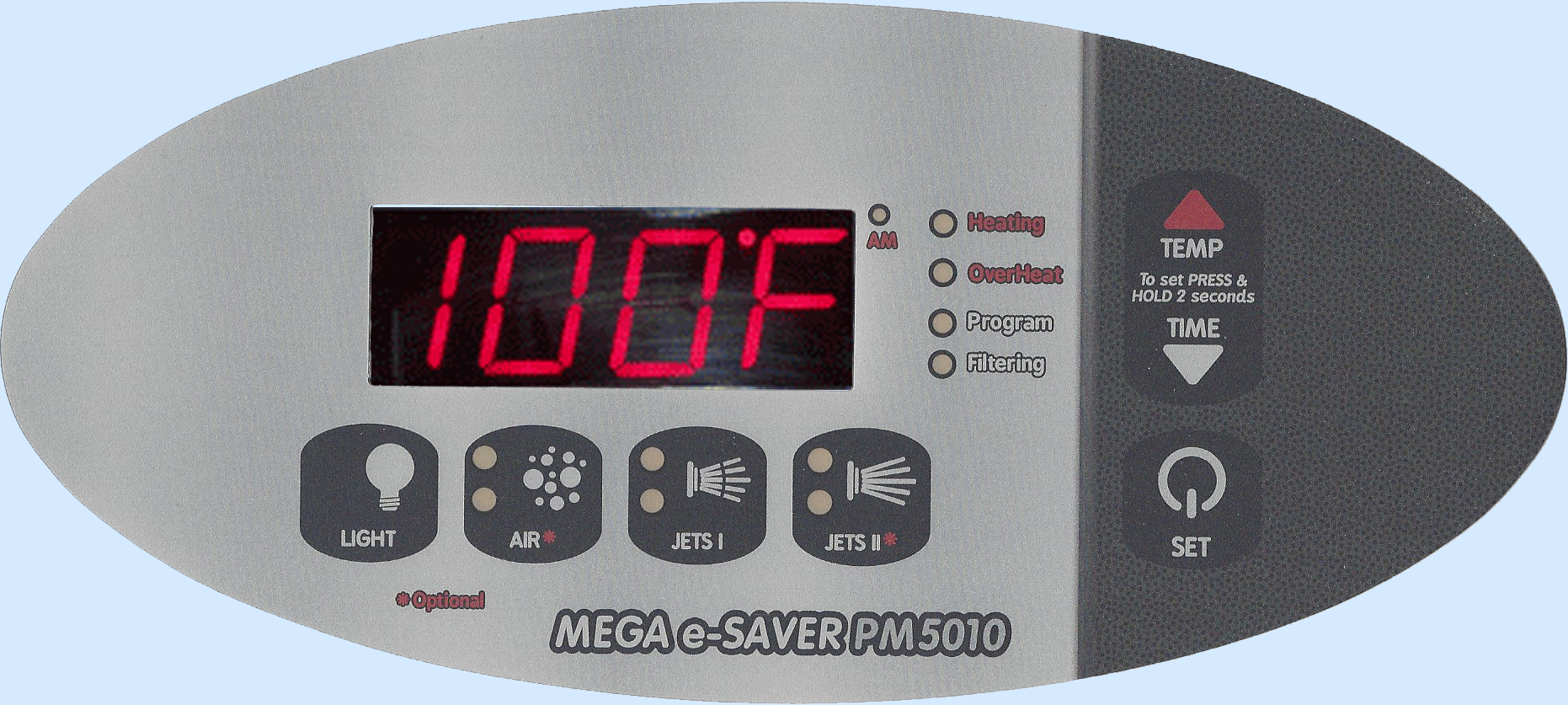 PM5010 Digital Spa Side Control